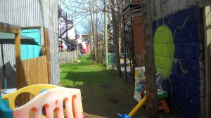 Lane,grass,toys,Photograph by Neath Turcot